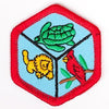 Zoology Badge Red-Ex 4140 Badges