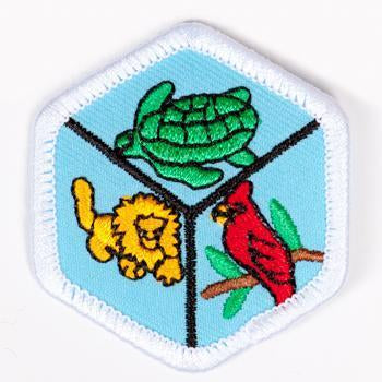 Zoology Badge White-Pi/pa 4140 Badges