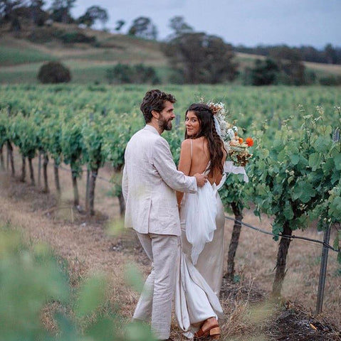couple married in the winery