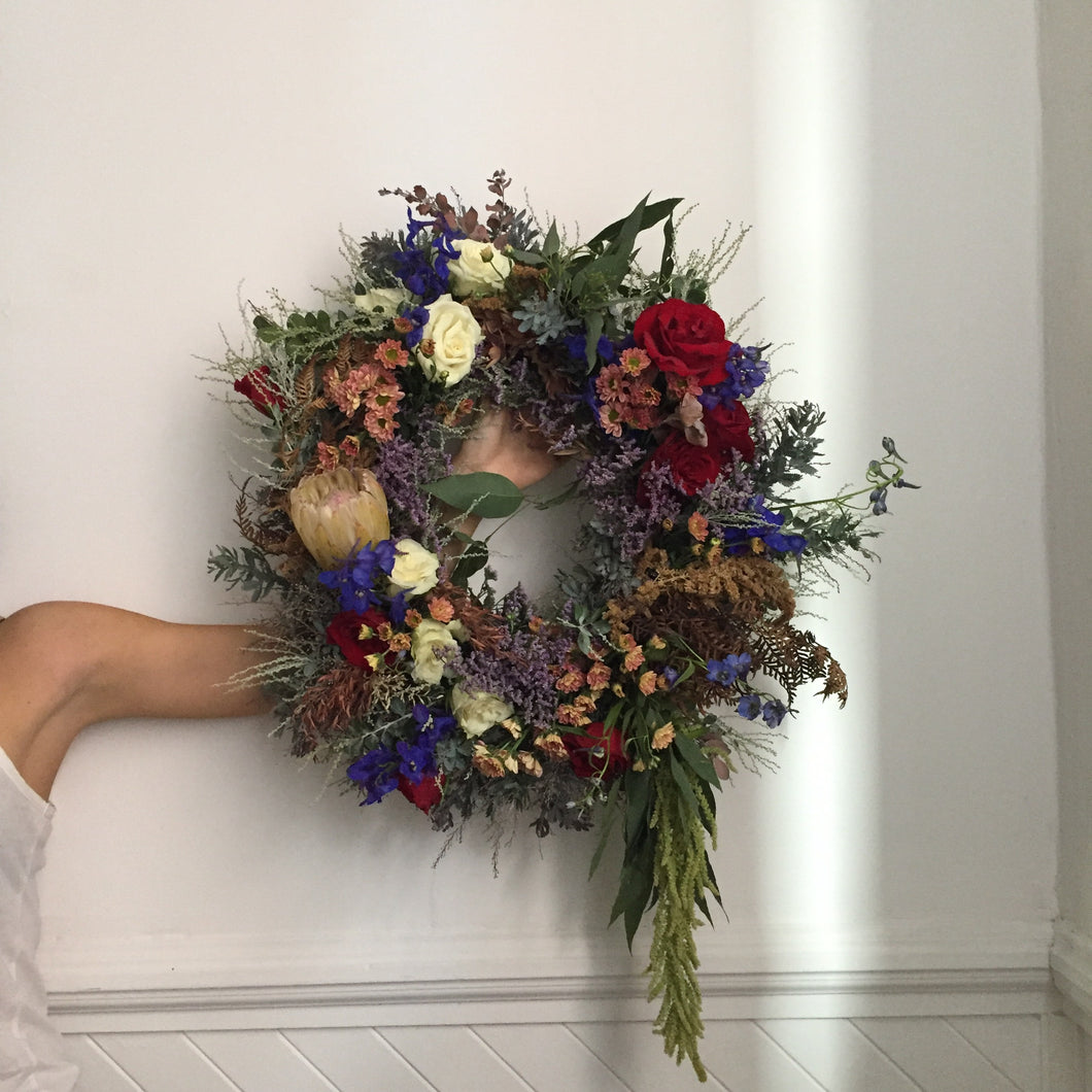 fresh floral wreath