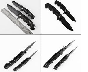Black Survival Folding Knife - Aluminium Handle - 50% OFF + FREE SHIPPING!
