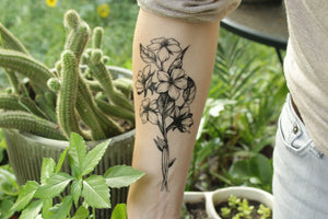 Floral Cluster Temporary Tattoo