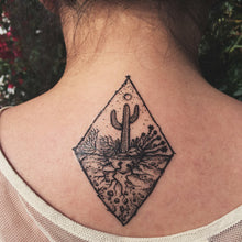 Saguaro Desert Scene Temporary Tattoo