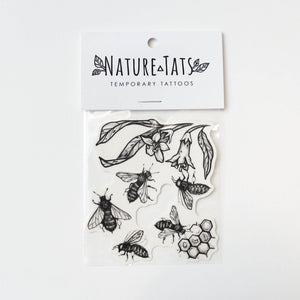 Bees and Hive Temporary Tattoos