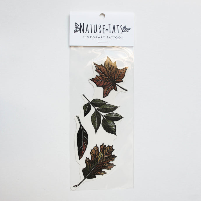 Fall Leaves Temporary Tattoo
