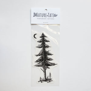 Forest Pine Tree & Saplings Temporary Tattoo
