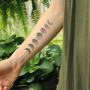 Moon Phases Temporary Tattoo
