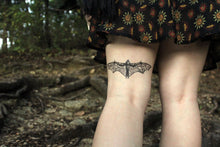 Bat Temporary Tattoo, Black Ink Flying Animal Tattoo, Nature Tattoo