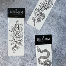 Rose Blossom Temporary Tattoo, Delicate Floral Tattoo, Botanical Tattoo