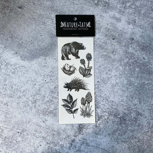 Forest Forage Temporary Tattoos 1