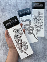 Monstera Vine Temporary Tattoo, Swiss Cheese Vine, Monstera Adansonii, Tropical Leaf, House Plants, Hand-Drawn, Art, Botanical Illustration