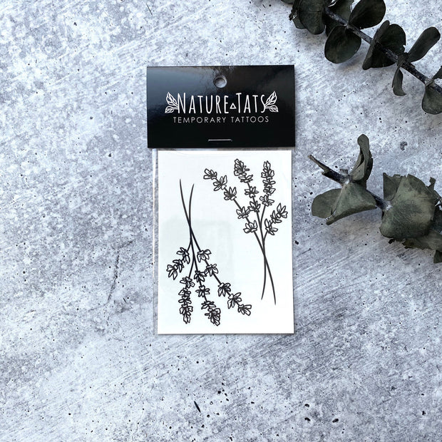Lavender Twigs Temporary Tattoos 1