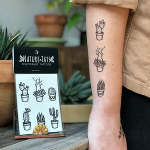 Potted Cactus Temporary Tattoos