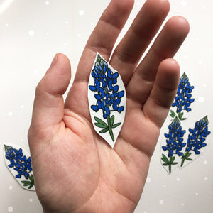 Bluebonnet Temporary Tattoo, Wild Flower Tattoos, Texas Tattoo, Floral Tattoo, Blue Flower, Floral Temporary Tattoo, Nature Tattoo