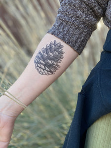 Pinecone Temporary Tattoo