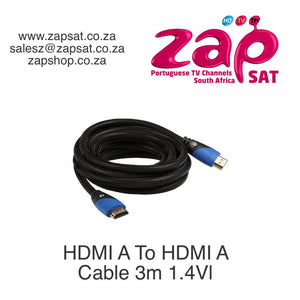 HDMI A To HDMI A Cable 3m 1.4V