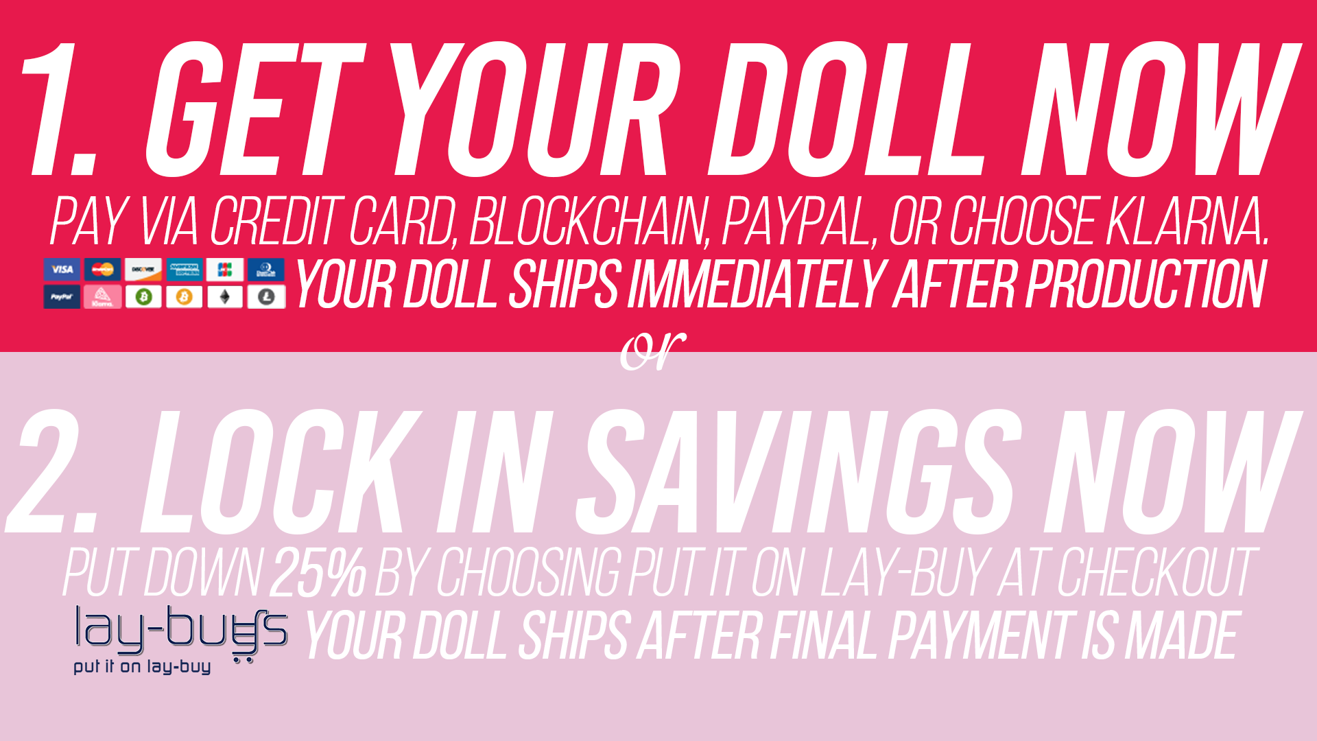 Sex Doll Payment Plan and Down Payment Options.