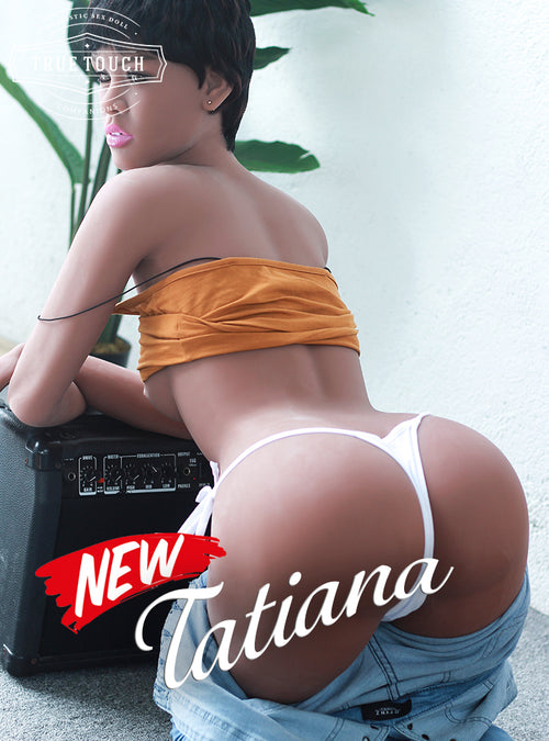 "😘 Tatiana - 5'1"" Ebony Teen Flat Chest Sex Doll Student from Atlanta, Georgia"