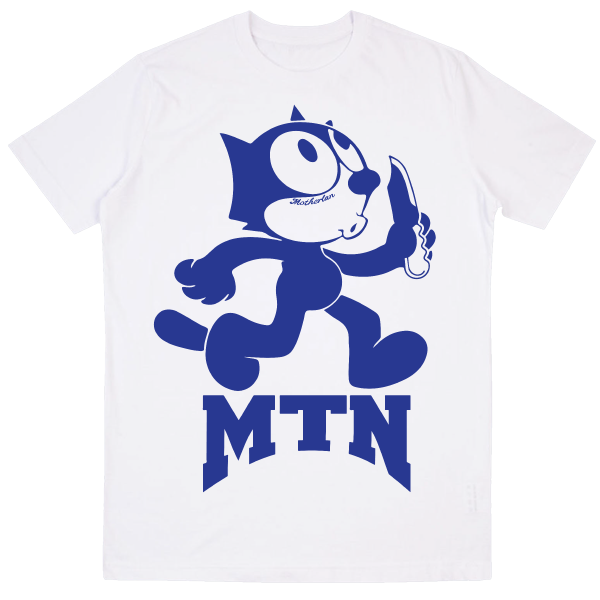 Motherlan Felix Tee | White / Blue