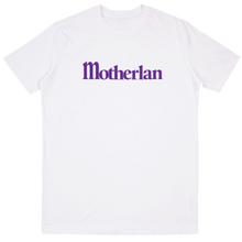 Load image into Gallery viewer, Motherlan Logo Tee | White/Purple