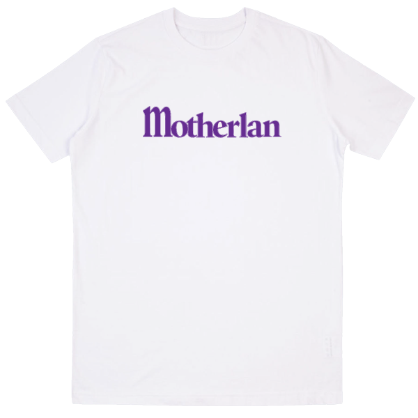 Motherlan Logo Tee | White/Purple