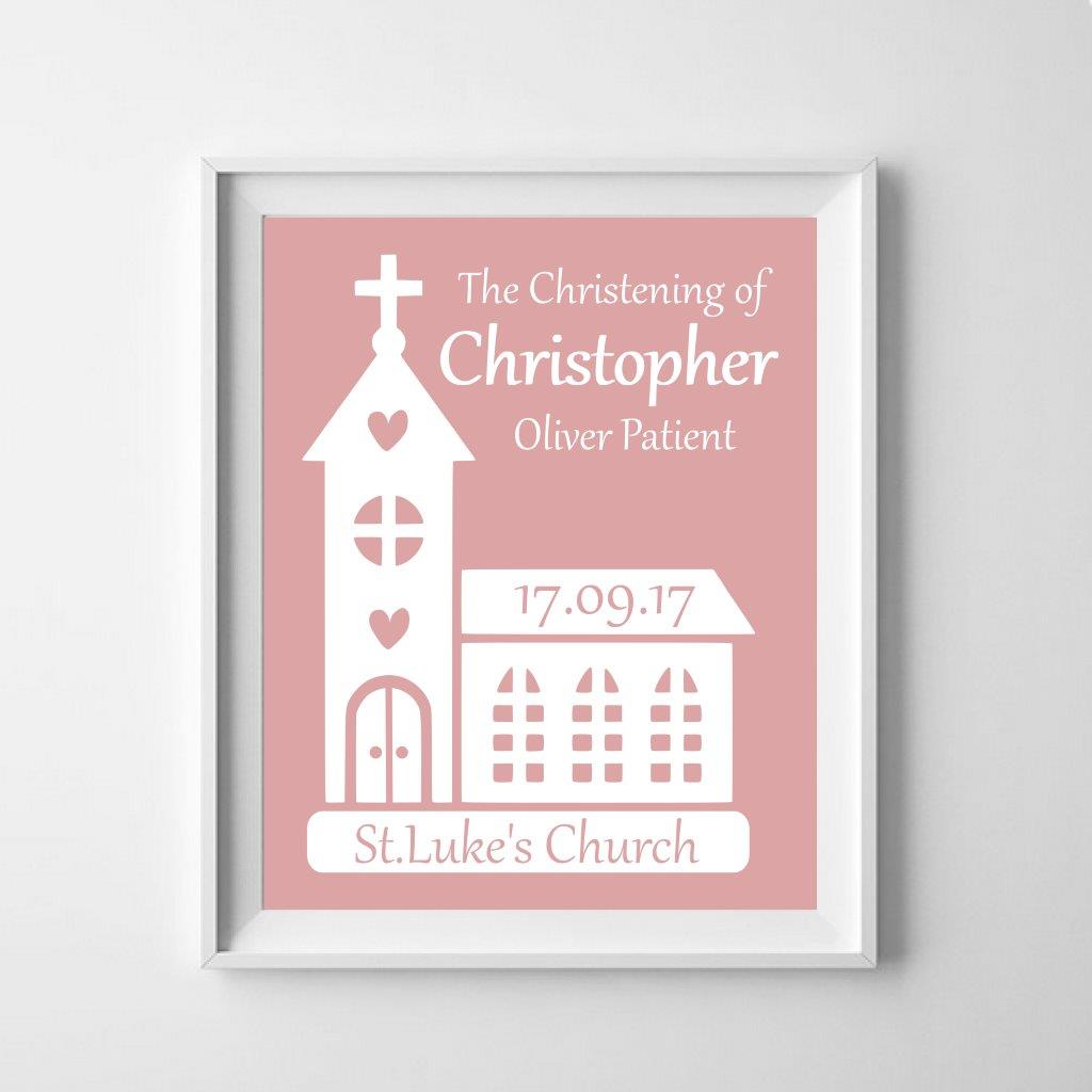 Personalised christening poster: celebrate the baby!
