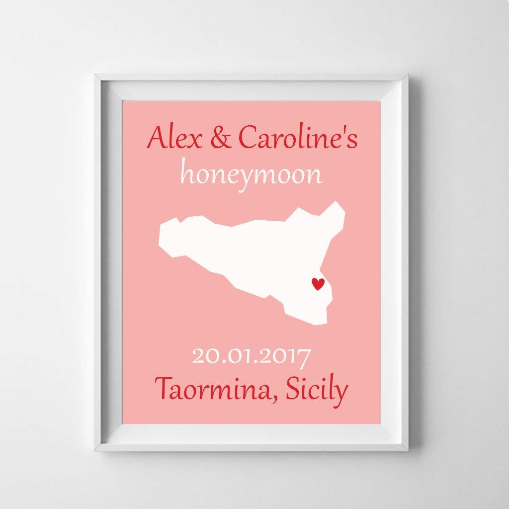 Personalised poster: celebrate where it all happened!