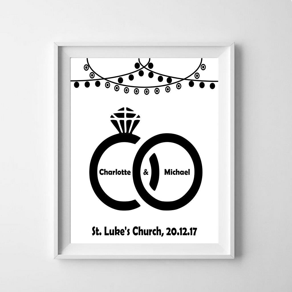 Personalised wedding poster: celebrate the wedding!