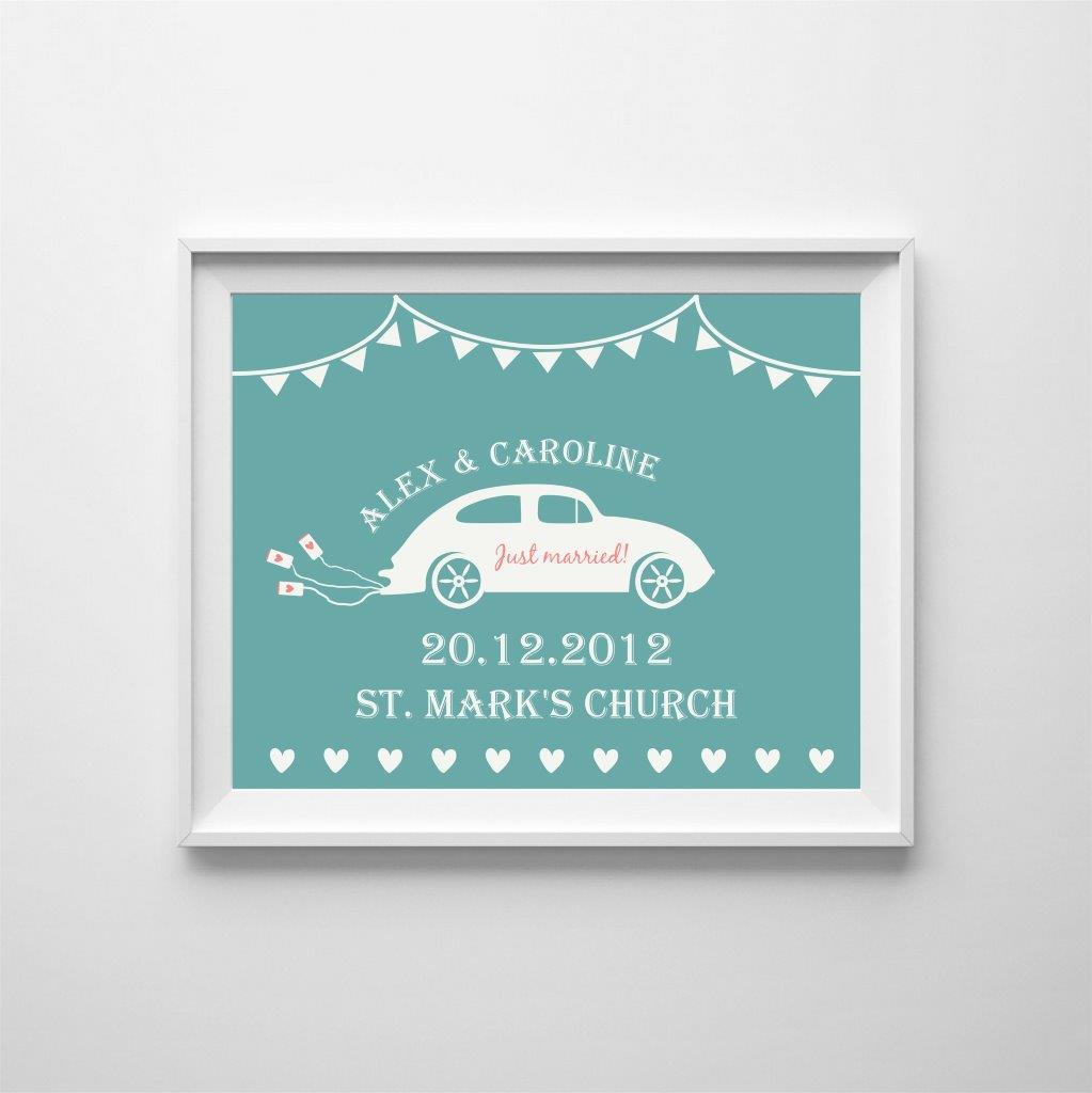 Personalised poster: celebrate the wedding!