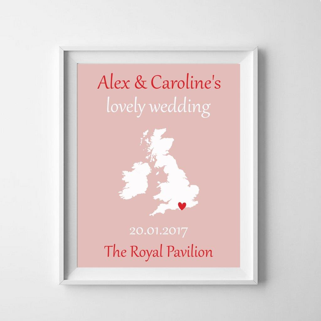 Personalised map: celebrate a special event!
