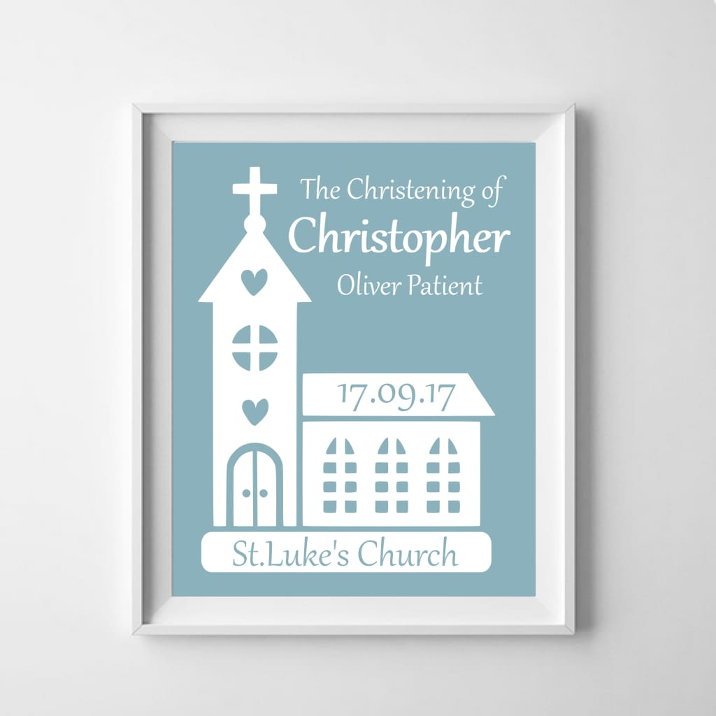 Personalised Christening Poster: Celebrate The Baby! - Babies & Kids