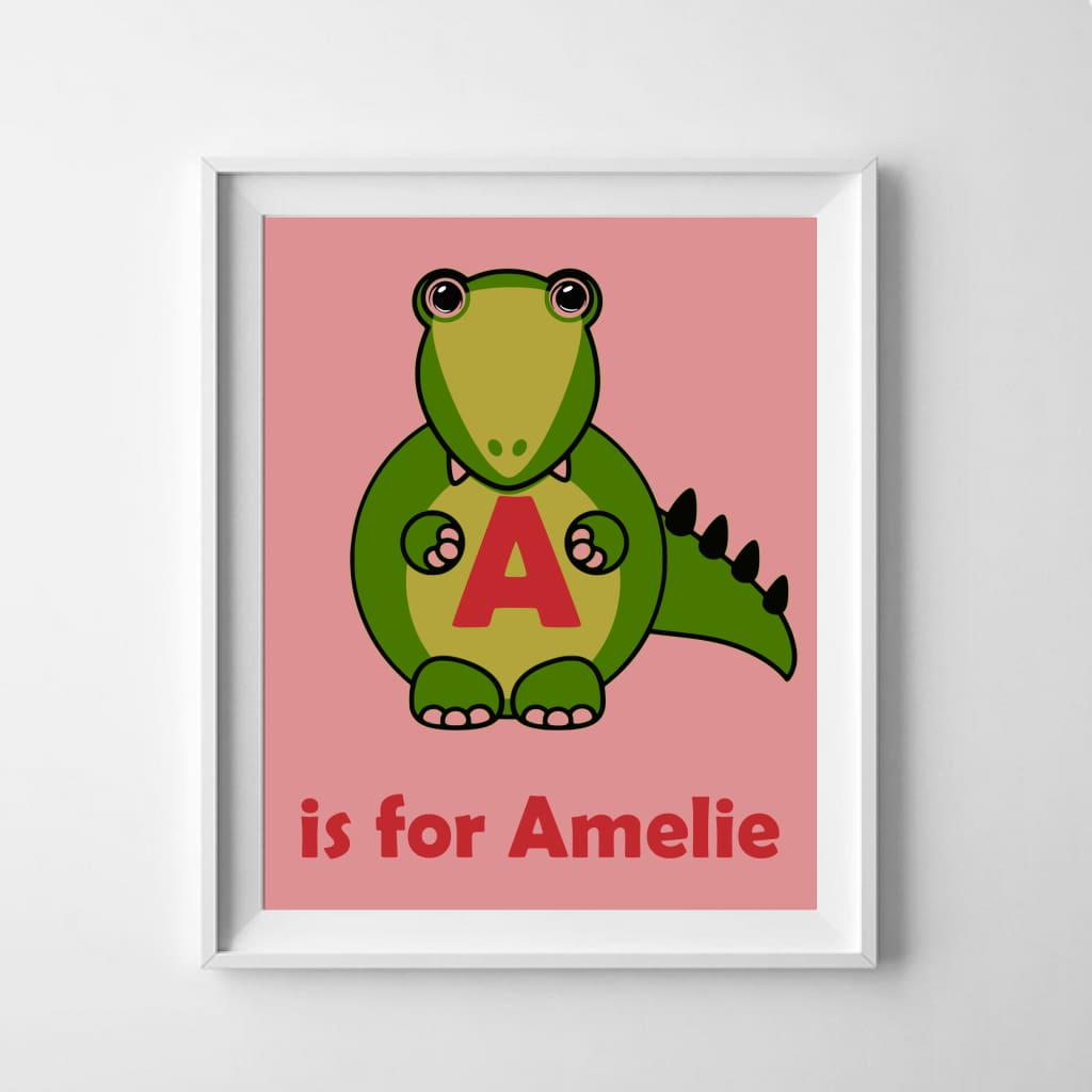 Personalised Dinosaur Name Poster - Babies & Kids
