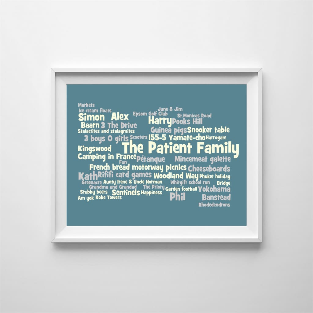 Personalised Family Word Cloud: Our Moments - Home & Family