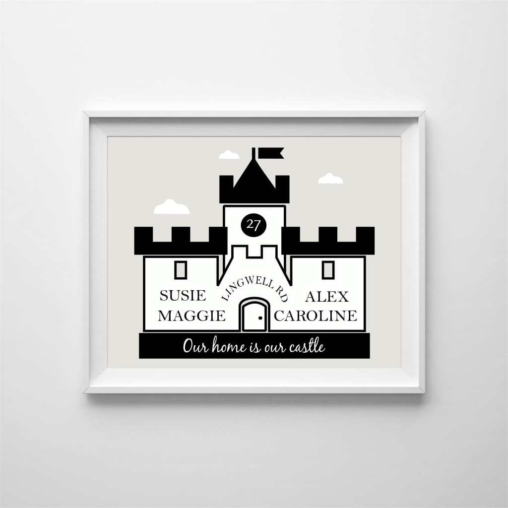 Personalised My Home Is My Castle Design For The Family - Home & Family