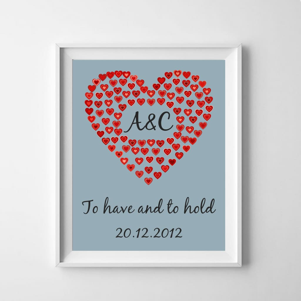 Personalised Poster: Celebrate Love And A Special Date - Love (And Weddings!)