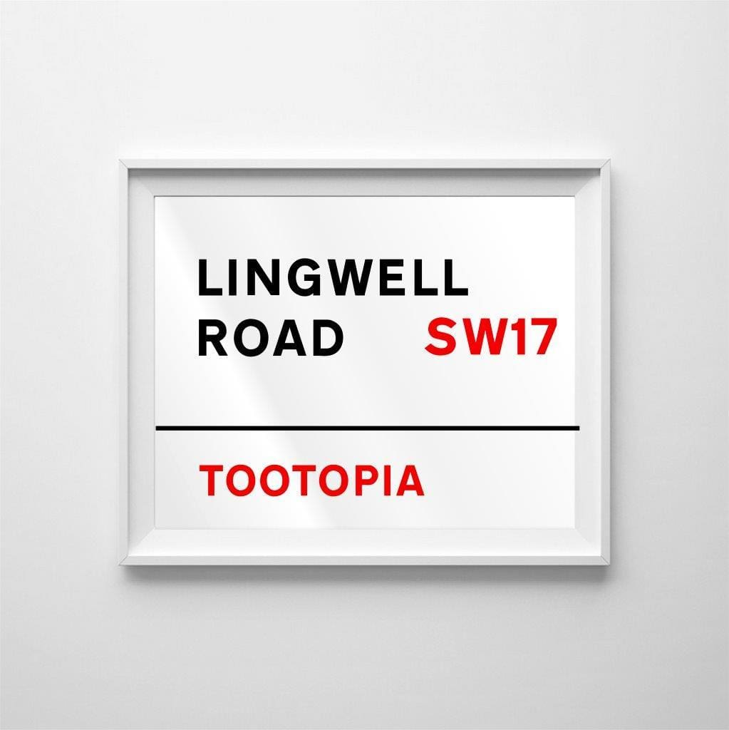 The classic street sign poster art: personalise away! - Brushed metal / Print (none) / 11x14 in (28x35cm) - Home & Family