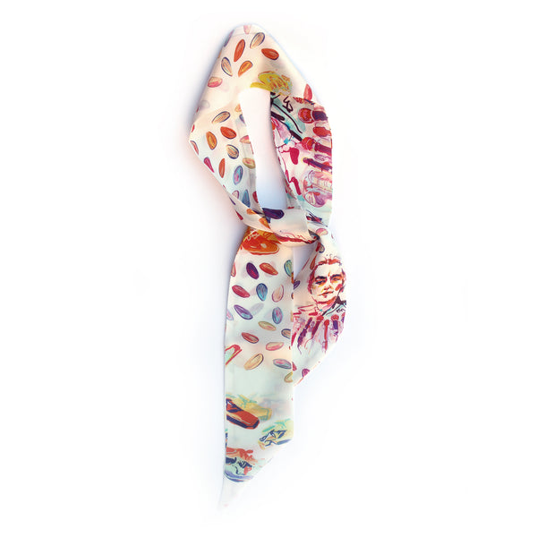 Almonds and Golda Meir skinny scarf