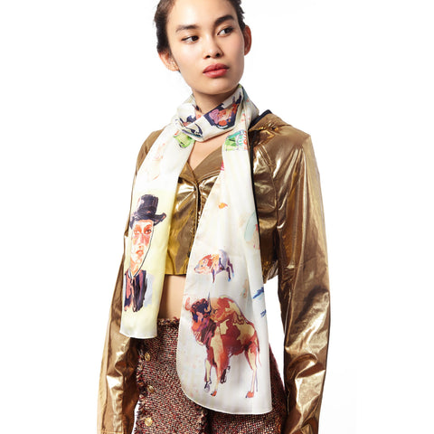 Desert Soda Summer silk scarf