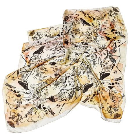 Truth or Consequences square silk scarf
