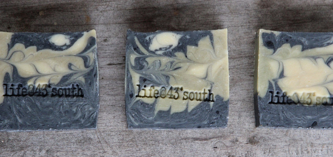 CHARCOAL & GREEN CLAY GOAT'S MILK FACIAL/BODY BAR
