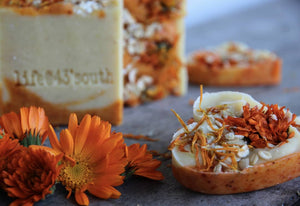 CALENDULA & OATMEAL GOAT'S MILK SOAP (UNSCENTED)*** BACK IN STOCK 2021