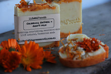Load image into Gallery viewer, CALENDULA & OATMEAL GOAT'S MILK SOAP (UNSCENTED)*** BACK IN STOCK 2021