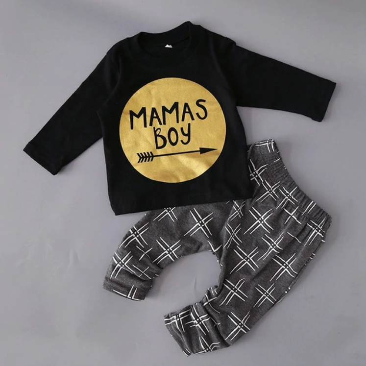 dfe340fd Mama's Boy Baby Clothes Set - John and Toad Boutique