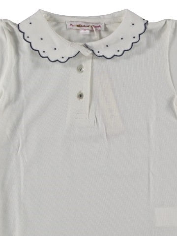 Polo Shirt Dotted Collar Navy - Eat Play Love
