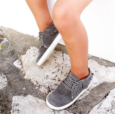 Fringe Sneaker Grey - Eat Play Love