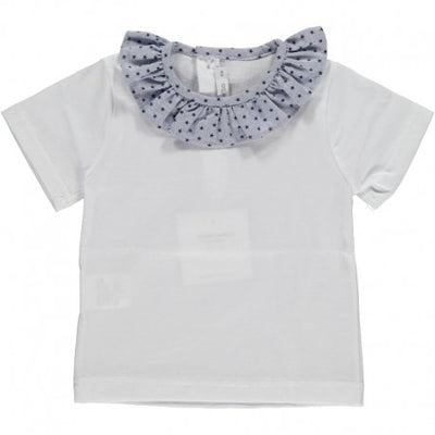 Baby T-shirt with Volant Collar Star Paloma - Eat Play Love