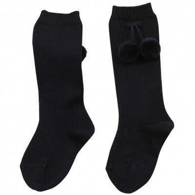 Condor warm Pom Knee Socks Navy - Eat Play Love