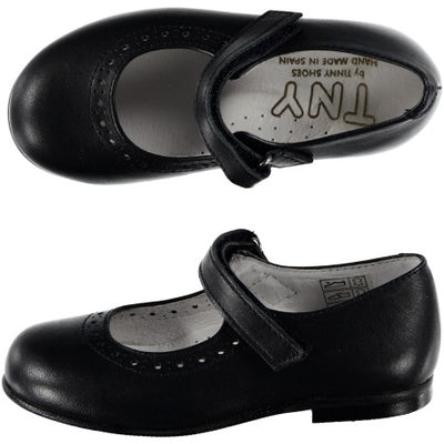 Mary Janes with Velcro Navy - Eat Play Love