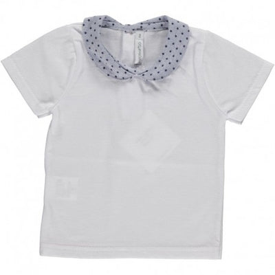 Baby T-shirt with Peter Pan Collar Star Paloma - Eat Play Love
