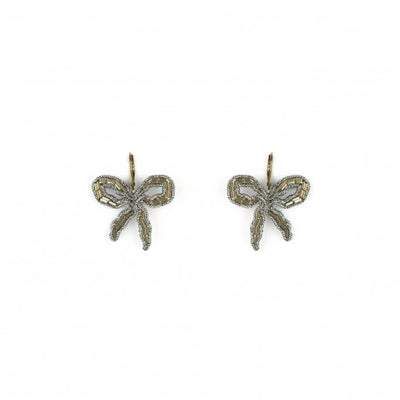 Bow Earrings Goldtone - Eat Play Love
